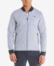 Lacoste Men's Premium Full-Zip Fleece Sweatshirt