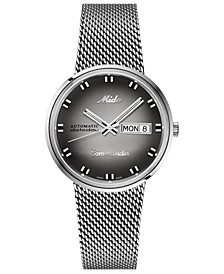 Swiss Automatic Commander Shade Stainless Steel Mesh Bracelet Watch, 37mm - A Special Edition