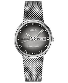 LIMITED EDITION Swiss Automatic Commander Shade Stainless Steel Mesh Bracelet Watch 37mm - A Special Edition