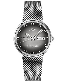 Mido Swiss Automatic Commander Shade Stainless Steel Mesh Bracelet Watch, 37mm - A Special Edition