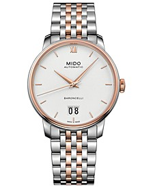 Men's Swiss Automatic Baroncelli III Two-Tone Stainless Steel Bracelet Watch 40mm