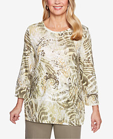 Alfred Dunner Autumn In New York Abstract-Print Sweater