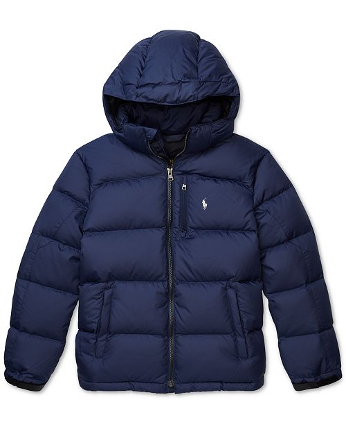 promo code a4748 85bd9 Polo Ralph Lauren Big Boys Quilted Down Jacket & Reviews ...
