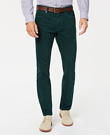 Tommy Hilfiger Mens Richard Custom-Fit Stretch Corduroy Pants