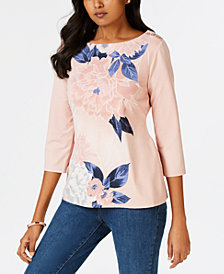 Charter Club Floral Top, Created for Macy's