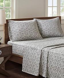 Madison Park Essentials Chevron 3-PC Twin XL Microfiber Printed Sheet