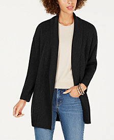 Style & Co Petite Ribbed Shawl-Collar Cardigan, Created for Macy's