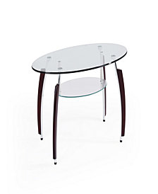 Tempered Oval Glass Coffee Table in Clear