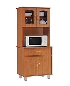 Kitchen Cabinet with 1-Drawer, plus Large Open Space for Microwave