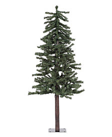 4' Natural Alpine Artificial Christmas Tree with 100 Clear Lights