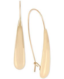 Robert Lee Morris Soho Gold-Tone Sculptural Stick Drop Earrings