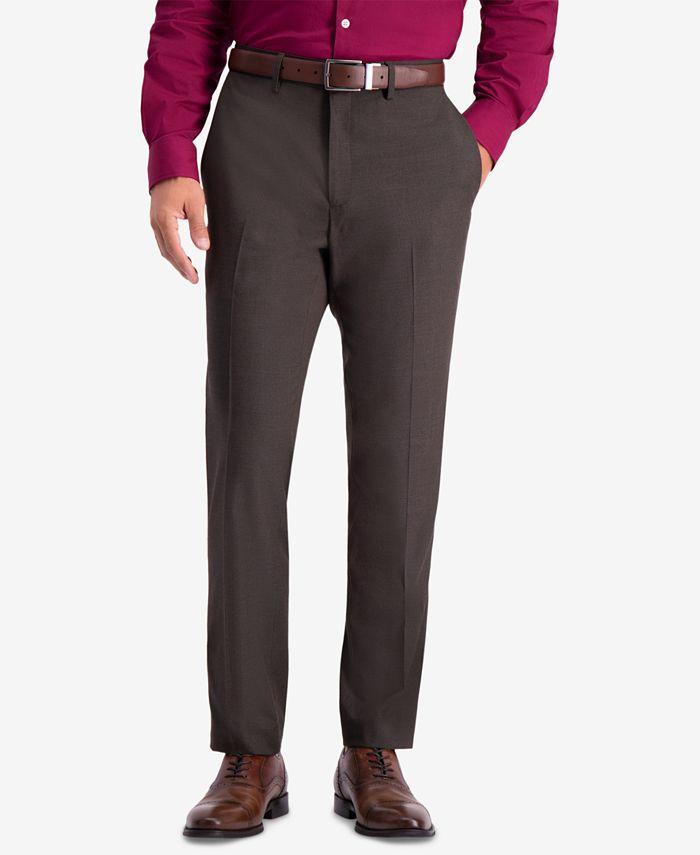 Kenneth Cole Reaction - Men's Slim-Fit Stretch Premium Textured Weave Dress Pants