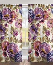 "Flower Song 84"" Black Out Window Curtain"