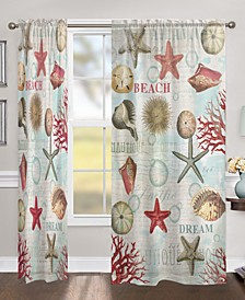 "Dream Beach Shells 84"" Sheer Window Panel"