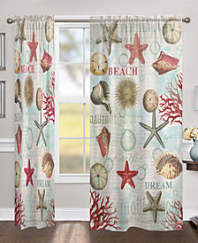 "Dream Beach Shells 84"" Sheer Window Panel"