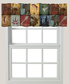 "Lodge Patch 60""x18"" Window Valance"