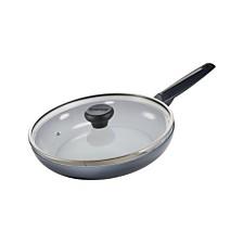 "Moneta Azul Gres Ceramic Non-Stick Forged Aluminum 8.5"" Fry Pan with Lid"