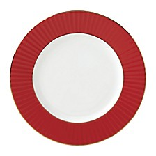 Pleated Colors Red  Dinner Plate