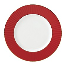 Lenox Pleated Colors Red  Dinner Plate