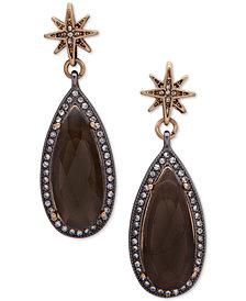 lonna & lilly Gold-Tone Gray Stone Teardrop Earrings