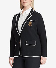 Lauren Ralph Lauren Plus Size Crest Blazer