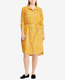 Lauren Ralph Lauren Plus Size Floral-Print Shirtdress