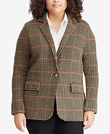 Lauren Ralph Lauren Plus Size Plaid Jacket