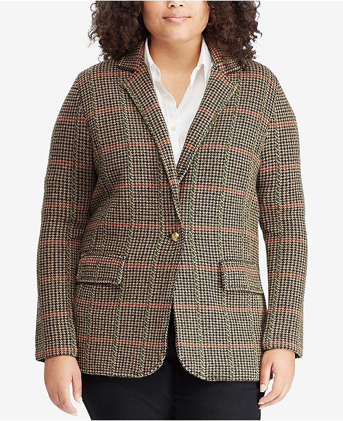 70db025a0cf Lauren Ralph Lauren Plus Size Plaid Jacket   Reviews - Jackets ...