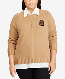 Lauren Ralph Lauren Plus Size Layered-Look Sweater