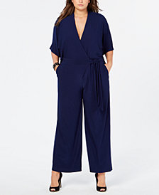 Taylor Plus Size Wide-Leg Surplice Jumpsuit