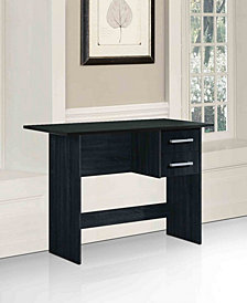 Writing Desk with 2-Drawers in Black
