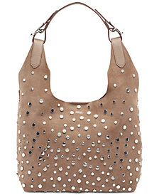 DKNY Wes Suede Stud Hobo, Created for Macy's