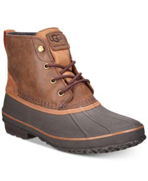 Men'S Zetik Waterproof Boots Men'S Shoes, Chestnut