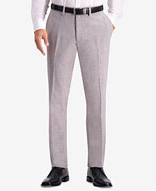 Kenneth Cole Reaction Men's Slim-Fit Stretch Faux Flannel Dress Pants
