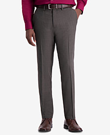 Kenneth Cole Reaction Men's Slim-Fit Window Grid Dress Pants