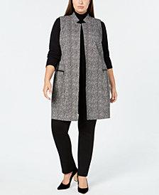 Calvin Klein Plus Size Herringbone Vest