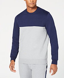 Club Room Men's Colorblocked Fleece Sweatshirt, Created for Macy's