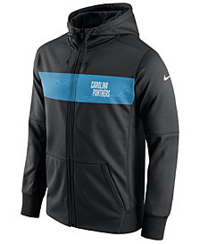 Nike Men's Carolina Panthers Seismic Therma Full-Zip Hoodie