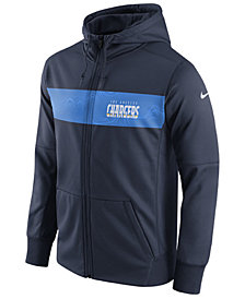 Nike Men's Los Angeles Chargers Seismic Therma Full-Zip Hoodie
