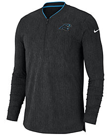 Nike Men's Carolina Panthers Coaches Quarter-Zip Pullover