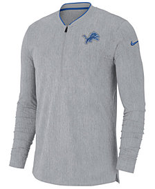 Nike Men's Detroit Lions Coaches Quarter-Zip Pullover