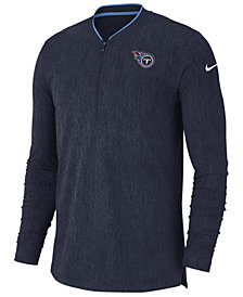 Nike Men's Tennessee Titans Coaches Quarter-Zip Pullover