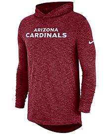 Nike Men's Arizona Cardinals Dri-Fit Cotton Slub On-Field Hooded T-Shirt