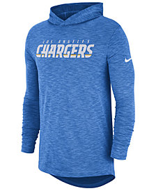 Nike Men's Los Angeles Chargers Dri-Fit Cotton Slub On-Field Hooded T-Shirt