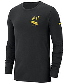 Nike Men's Pittsburgh Steelers Heavyweight Seal Long Sleeve T-Shirt