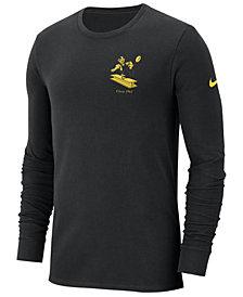 Nike Men's Pittsburgh Steelers Heavyweight Seal Long Sleeve T-Shirt