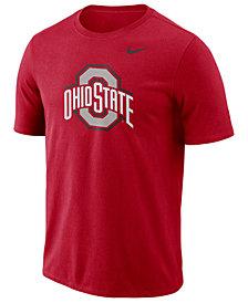 Nike Men's Ohio State Buckeyes Dri-FIT Cotton Logo T-Shirt
