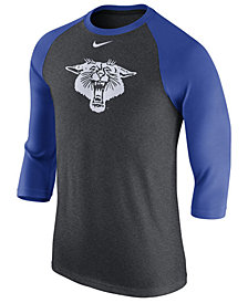 Nike Men's Kentucky Wildcats Triblend Vault Logo Three-Quarter Sleeve Raglan T-Shirt