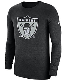 Nike Men's Oakland Raiders Historic Crackle Long Sleeve Tri-Blend T-Shirt