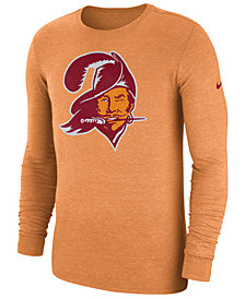 Nike Men's Tampa Bay Buccaneers Historic Crackle Long Sleeve Tri-Blend T-Shirt